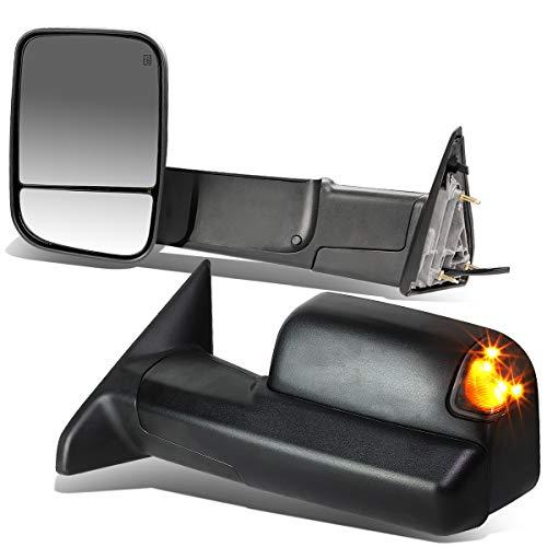 DNA Motoring TWM-013-T888-BK-SM Pair of Towing Side Mirrors