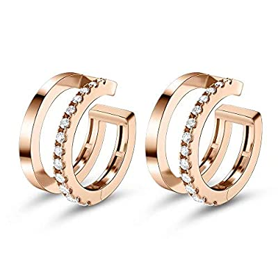 Ear Cuffs for Women, Gold Plated Cubic Zirconia...