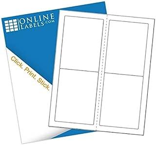 3.5 x 5 Mailing Labels - Pack of 400 Labels, 100 Sheets - Inkjet/Laser Printer - Online Labels