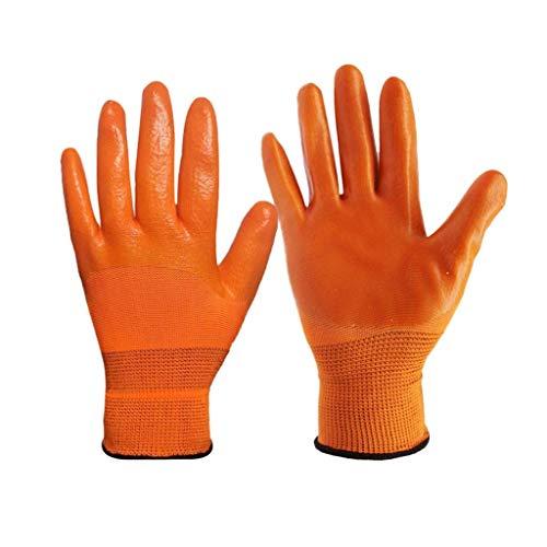 Latexhandschuhe Wasserdichte, dicke Dekoration, rutschfeste, ölbeständige, rutschfeste, ölbeständige Handschuhe chemikalienbeständige HandschuheGummihandschuhe