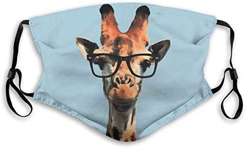 HUIDE Divertida jirafa con cubierta para gafas de sol, antipolvo, lavable con cubierta ajustable