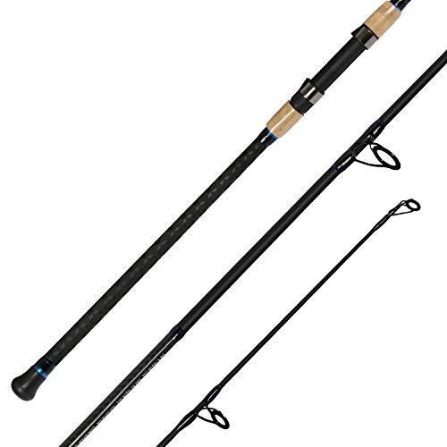 Fiblink 2-Piece Surf Spinning Fishing Rod Carbon Fiber Travel Fishing Rod (2-Piece 11-Feet)