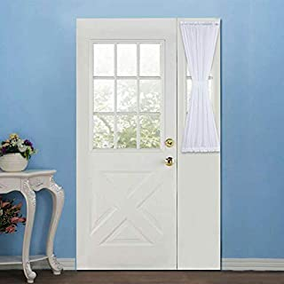 Rose Home Fashion RHF Sidelight Panel Curtains for French Door - Side Light Front Door Curtain with Tieback, 30