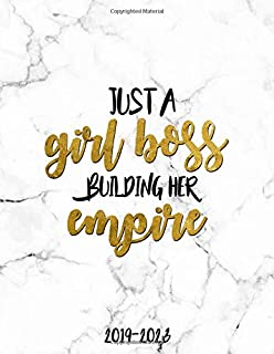 Just A Girl Boss Building Her Empire 2019-2023: Marble & Gold 5 Year Planner with 60 Months Spread View Calendar. Pretty Five Year Agenda, Organizer, Journal, Schedule Notebook and Business Planner.