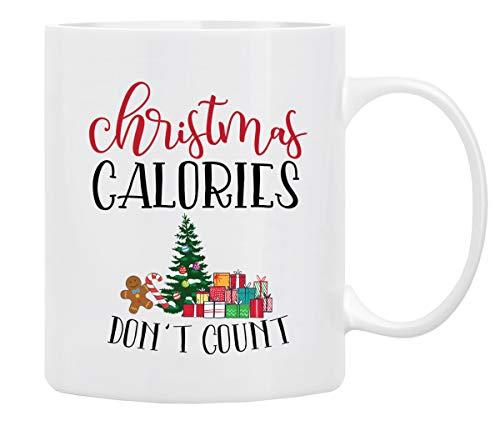 Christmas Coffee Mug, Holiday Coffee Mug '' Christmas Calories Don't Count'', Funny Christmas Mugs from Daughter, Wife and Son – Christmas Movie Mug, Mug in DecorativeChristmas Gift Box,11 Oz