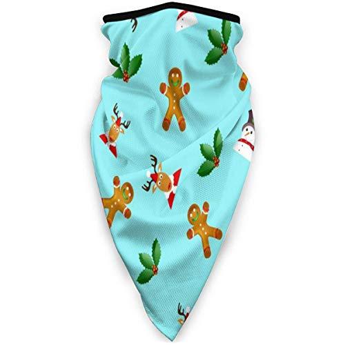 Bandanas muñeco de nieve hojas y alces en bufanda de cara azul pasamontañas ultra suave diadema gorra cuello polaina esquí pescado pañuelo para el cuello abrigo para la cabeza