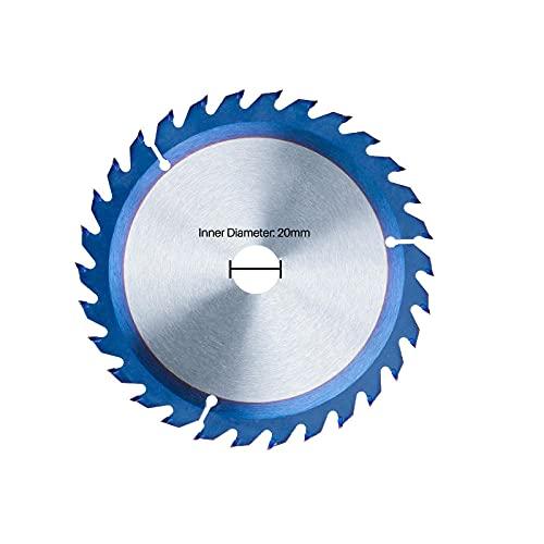 TCT Hoja de sierra circular 150 / 160mm Carburo Cuchilla de madera con punta 16/24 / 30T Nano Disco de corte de madera con revestimiento azul-_160x20x30t