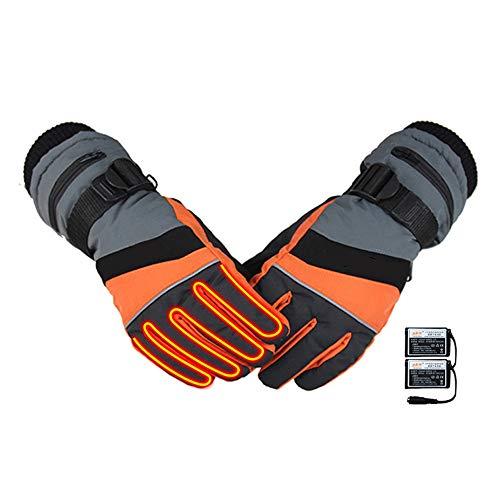 QHGao Intelligente verwarmde handschoenen voor touchscreen, winter 3 m, antislip handschoenen, waterdicht, verwarmbaar voor USB-oplaadkabel, zacht en antislip leer voor de handpalmen