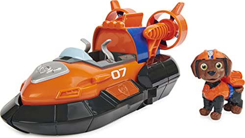 Paw Patrol, Zuma's Deluxe Movie Transforming Toy Car with Collectible Action Figure, Kids Toys for Ages 3 and up