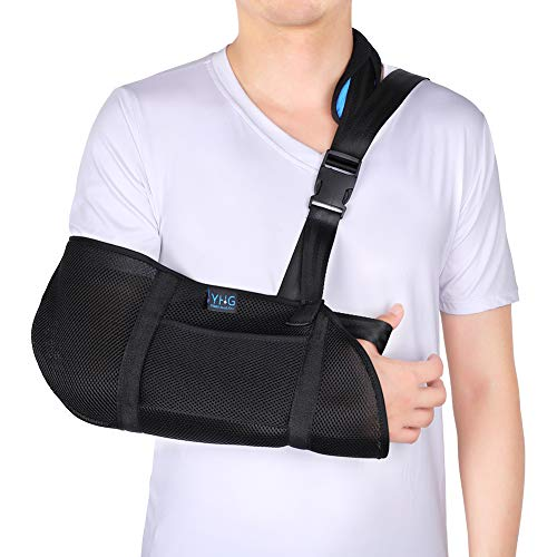 Armschlinge für Gebrochenen Arm, Armschlinge Schulter Bandage Schulterschlinge Gepolstert mit Schnallendesign für Handgelenk, Ellenbogen, Schulterverletzungen für Damen und Herren, linkes rechts arm