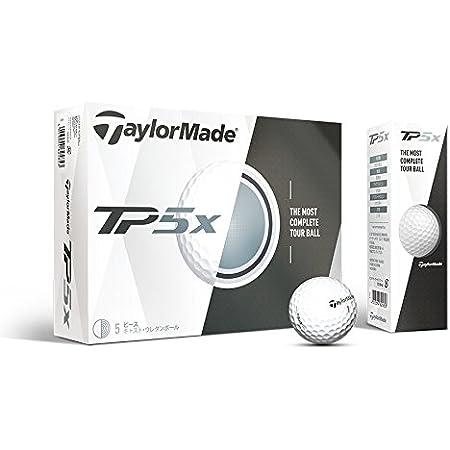 TAYLOR MADE(テーラーメイド) ゴルフボール TP5x TP5x ゴルフボール 5ピース構造 高弾道&低スピン 並行輸入品 (1ダース) ホワイト