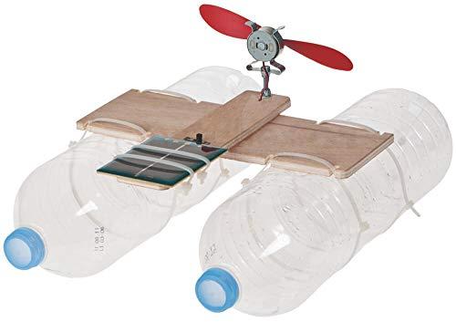 matches21 Katamaran Boot Solarantrieb Modell Elektroantrieb PET-Flaschen Bausatz Kinder Werkset Bastelset ab 12 Jahren