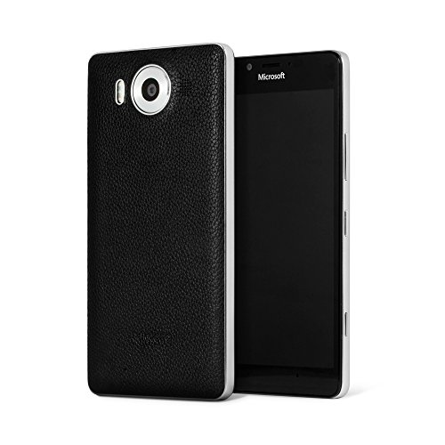 Mozo 950BBSWN Qi drahtlos Charging Back Schutzhülle für Microsoft Lumia 950 mit NFC schwarz/Silber