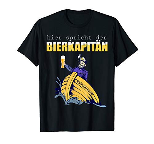 Herren Kapitän Kostüm   Fasching Kapitän Outfit   Karneval Kapitän T-Shirt