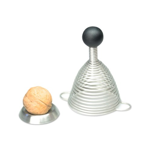 Naomi Nutcracker with Spiral Spring - German Engineered Stainless Steel and Silicone Design (Black Silicone)