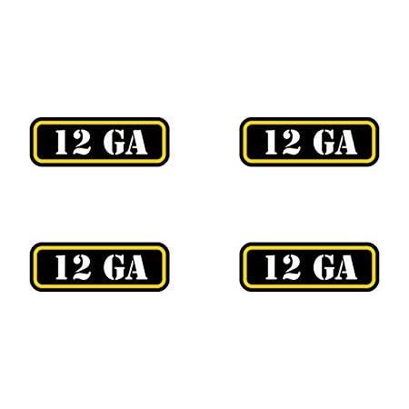 Set of 4 Ammo Box Decals American Flag .410 Shotgun Slug Buckshot Birdshot