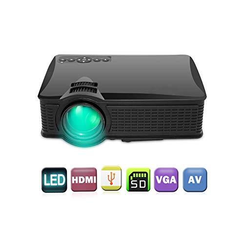 Mini proiettore, videoproiettore portatile 1200 Lumens, proiettore LCD LCD Full HD, supporto per proiettore Home Theater 1080P Adatto per tablet, computer, console di gioco, laptop, ecc.