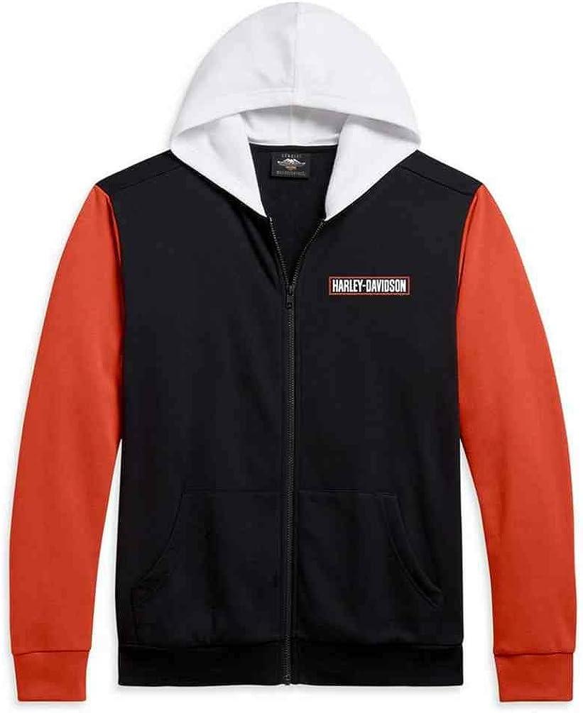 Harley-Davidson Men's H-D Logo Colorblocked Full-Zip Hoodie 96161-21VM
