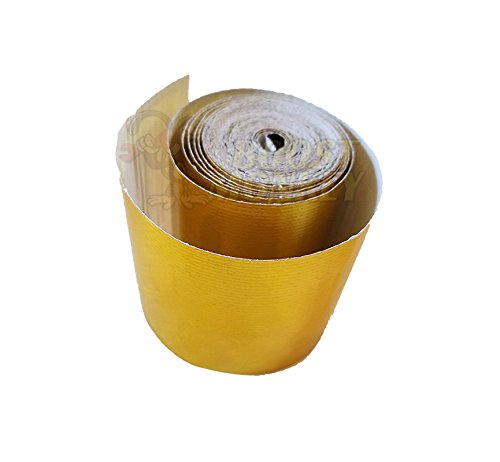 Boost Monkey Gold Heat Tape High-Temperature Heat Reflective Adhesive Backed Roll, 2