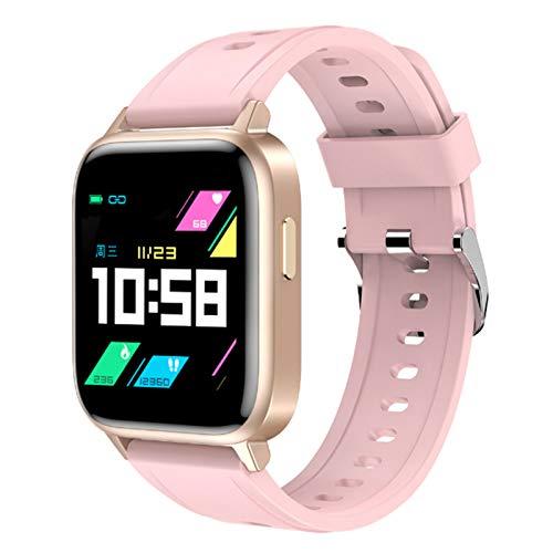 Wsaman Pulsera De Actividad Inteligente Impermeable IP68, Rastreador De Ejercicios con Rtmo Cardíaco Sueño Monitor para Android e iOS Smart Watch Reloj,Rosado