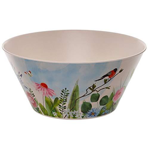 EliteKoopers 1Pcs Bamboo Composite Botanical Gardens Salad Bowl