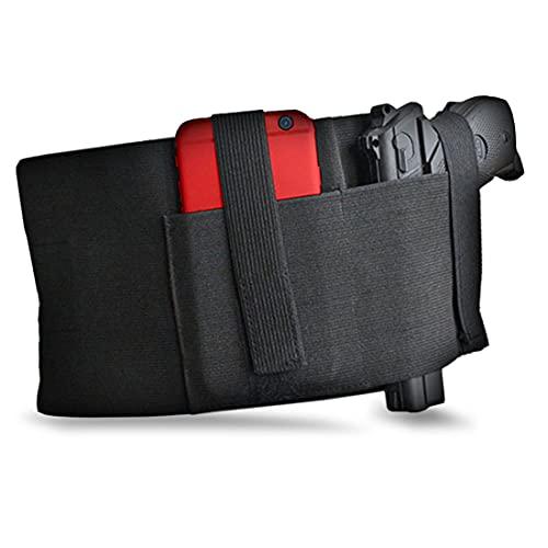 Tactical Belly Band Holster for Concealed Carry Pistol Hand Gun Holder, Hide Handgun Under Shirt Elastic Waist Belt Holsters for Men and Women