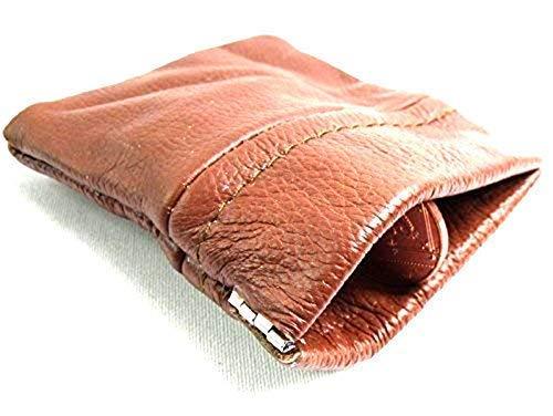 Emporium Leather Pour Hommes Femmes Cuir Brun Pochette Porte-Monnaie Portefeuille