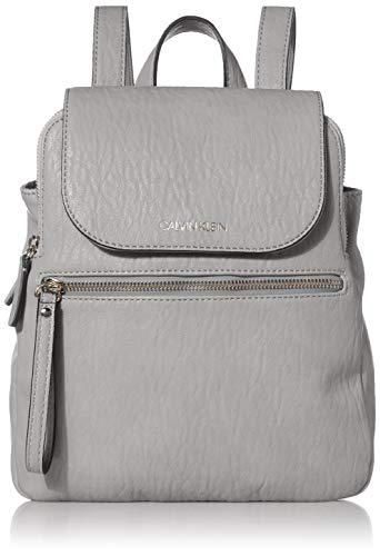 Calvin Klein Women's Elaine Bubble Lamb Novelty Key Item Flap Backpack, Grigio, One Size