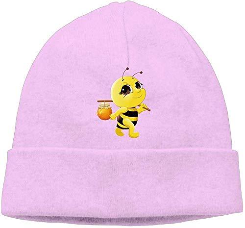 Mode Effen kleur Bee met Honing Wollen Hoed voor Unisex Zwart Een Maat