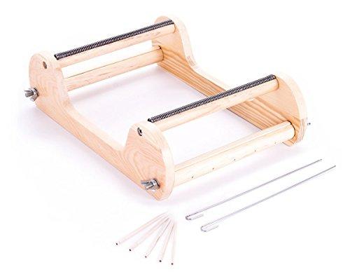 Telar madera natural especial rocalla de 26x18x7cm. para la creación de pulseras y otros trabajos de bisutería. - Ref. 295