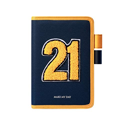 Composition 2021 Planning Notebook, A5 Jan-Dec Time Management Journal, for Student Boys and Girls Worker Schedule Notepad (Color : Navy blue)