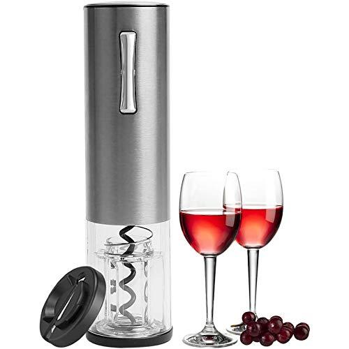 Abridor De Vino Eléctrico Botón De Un Clic Abridores De Botellas De Vino Reutilizables con Cortador De Papel De Vino para El Hogar, La Cocina, La Fiesta, El Bar