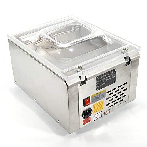 OUKANING 120W Vakuumierer Tisch Vakuumiergerät Vakuummaschine Kammer Industriell