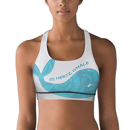 ksdhfhda WomenYoga Sports Bra 52 Hertz whalecustomYoga Vest Support forWorkout Fitness