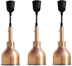 RSTJ Nourriture chauffage lampe 3 Pack réglable Lampe chaleur Warmers en acier inoxydable avec ampoule de chaleur infrarou...