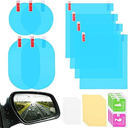 Jky Autospiegel, waterdichte folie, achteruitkijkspiegel, beschermfolie, anti-condens, waterdicht, HD-raamfolie, helder, beschermstickers voor autospiegels en zijruiten