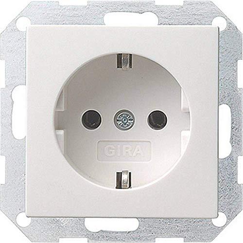 Gira 018803 Schuko stopcontact systeem 55, zuiver wit Single (018803) Steckdose Reinweiß glänzend Zuiver wit glanzend