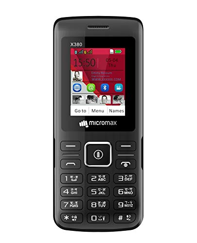 Micromax X380 (2400 mAh, BT Calling, Screen Capture) (Black)
