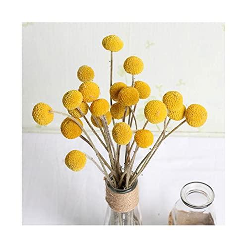 40 stks Gedroogde Gedroogde Bloem Ballen Kunstbloemen Nep Zijde Gele Bloemen Voor Kamer Decoratie