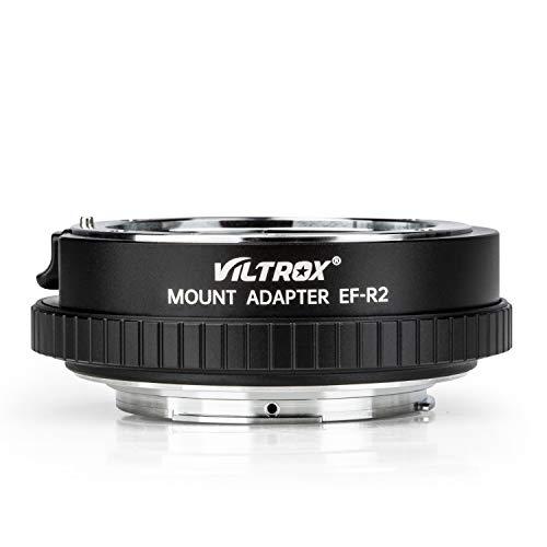 VILTROX コントロールリングマウントアダプター EF-R2 AFオートフォーカス 自動絞り レンズIS手振れ補正 Canon EF/EF-Sレンズ→キヤノンEOS R/EOS RPカメラ装着用 EOS R/EOS RP/EOS R5/EOS R6対応