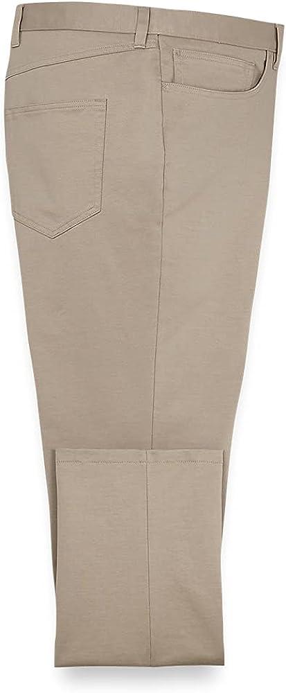 Paul Fredrick Men's Five Pocket Knit Pants, Size 46 X 32 Khaki