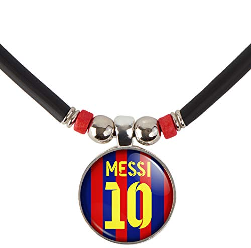 SpotlightJewels Lionel Messi #10 Soccer Jersey Necklace-Leo Messi Barcelona Jersey Necklace- Messi Argentina Jersey Necklace