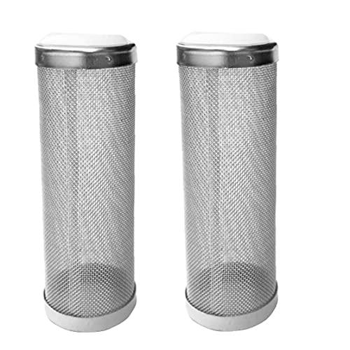Liadance 2 Stück Aquarium Ansaugkorb Shrimp Schutz Net Filter Guard- Für Den Schutz Von Garnelen Inhalation Silber L
