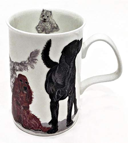 Roy Kirkham Engeland fijn bot China Lancaster mok | Honden Galore mok voor koffie, thee, Latte