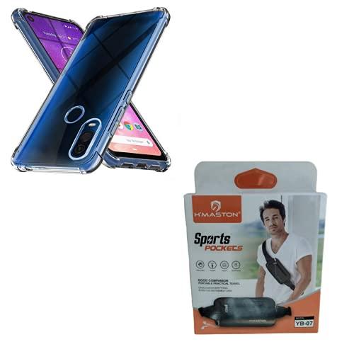 Kit Capinha Anti Impacto Motorola Moto One Vision + Pochete Corrida Celular Impermeável Slim