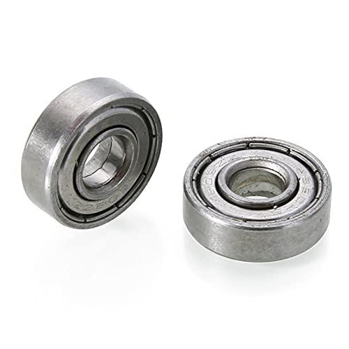 BAAIFC 10 piezas de doble blindaje en miniatura de acero de alto carbono de una sola fila 608ZZ ABEC-5/7 rodamientos de bolas de ranura profunda 8 * 22 * 7 8x22x7 MM 608 ZZ