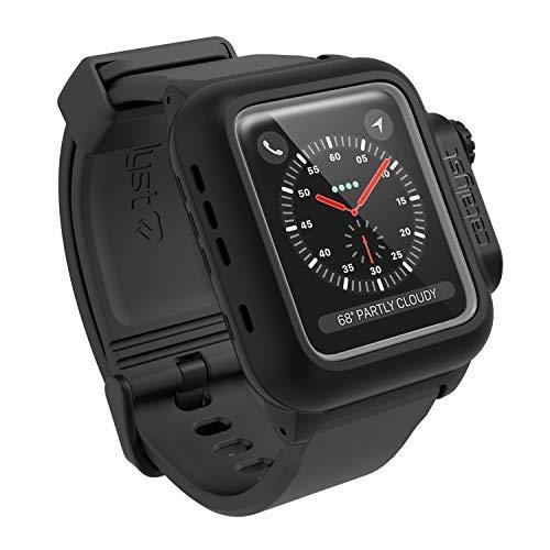 Catalyst wasserdichte Hülle für Apple Watch 42mm, Serie 2und3, für Apple Watch Armband aus Weichem Premium Silikon, Stoßfest & Aufprall Resistent, Schutzhülle, Grau