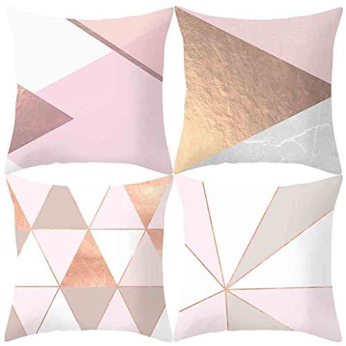 GOKOMO 4 Pack Cuscino a Forma Geometrica Classica del Cuscino di tiro dell'onda per la Decorazione Domestica Federa per Cuscino 45x45cm(Colorato_1,45x45cm)