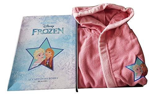 sfiziosa Albornoz niña Frozen Microfibra Color Rosa Tallas de 3 a 8 años Rosa 3-4 Años
