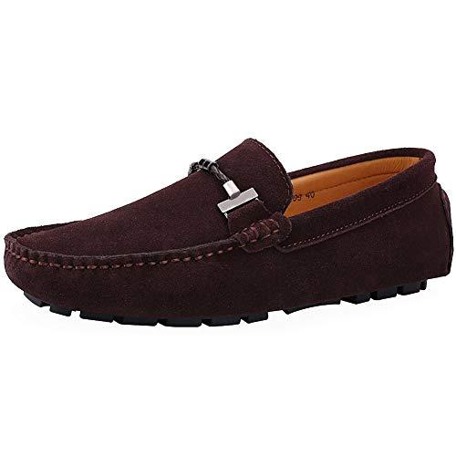 LOVESHOP Mocassins Chaussures Chaussures De Conduite en Daim éLéGantes Et Confortables pour Hommes (Café-2 40 EU)
